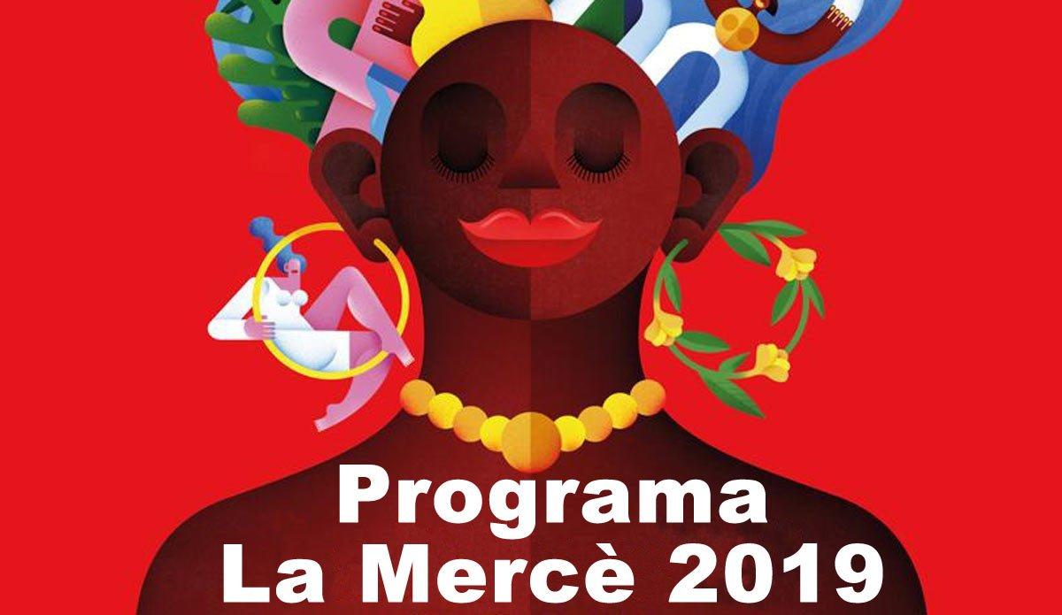 Detalle del cartel de las fiestas de la Mercè 2019.