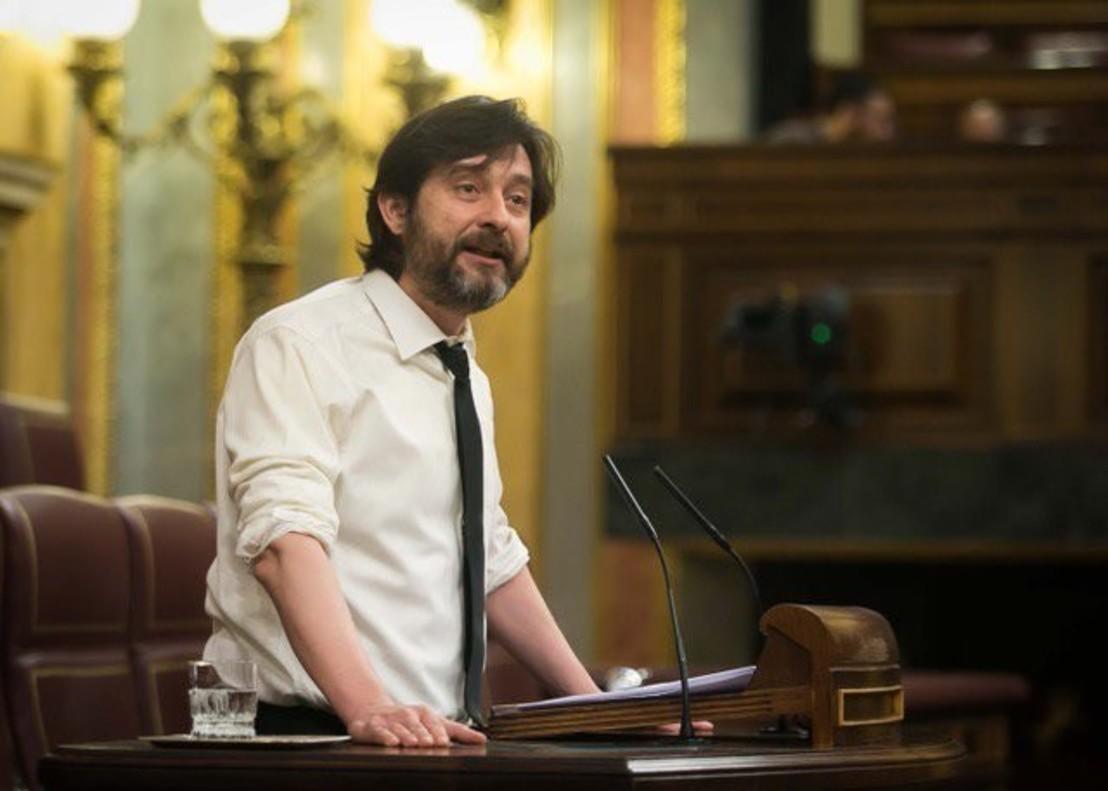 Rafael Mayoral, en una ponencia en el Congreso de los Diputados.