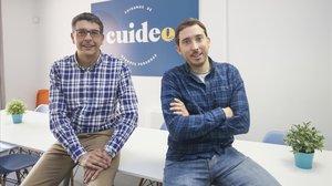 Roberto Valdés y Adrià Buzon, cofundadores de Cuideo.