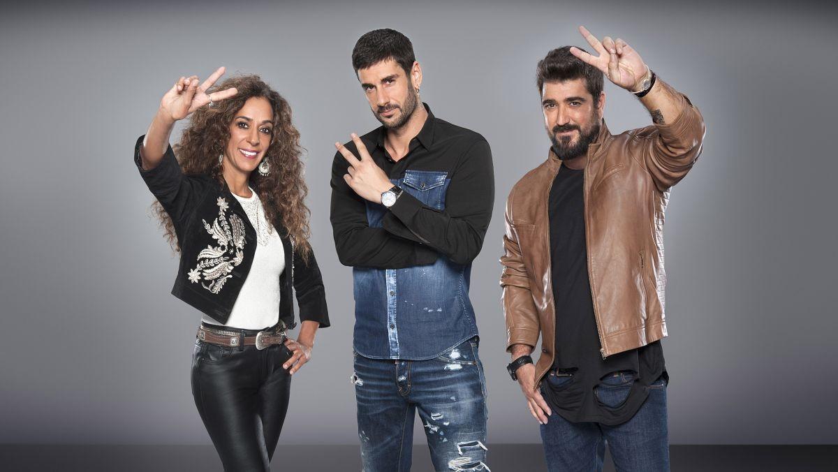 Rosario Flores, Melendi y Antonio Orozco, los coaches de La voz kids de Telecinco.