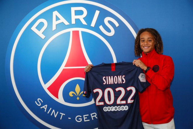 Simons, con su nueva camiseta del Paris SG.