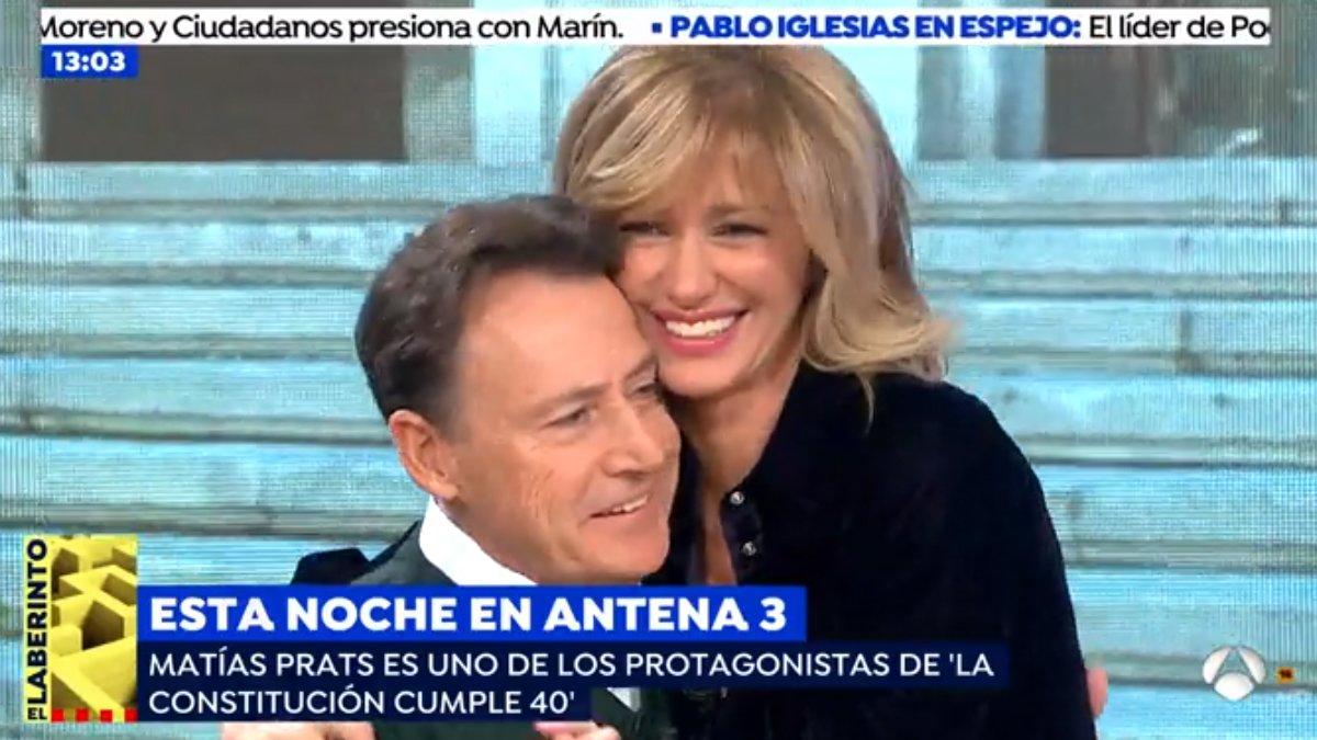 """El reencuentro de Susanna Griso con Matías Prats: """"¿Quién te quiere más que yo?"""""""