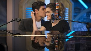 Alfred y Amaia, tras interpretar City of stars en El hormiguero.