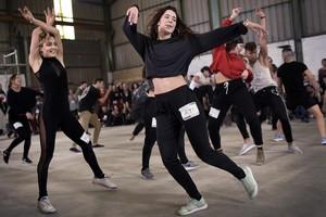 'Casting' del nuevo concurso de Movistar+ 'Fama a bailar', en la Antigua Fabrica de Galletas de Bilbao.