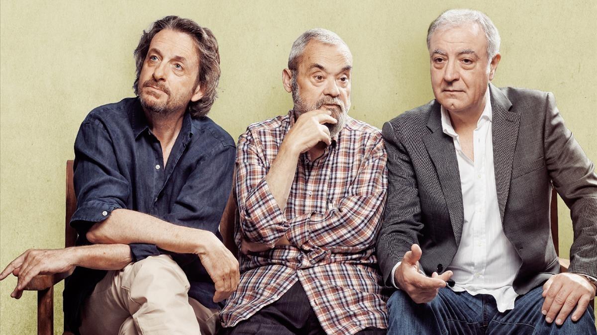 Ramon Madaula, Carles Canut y Jordi Bosch estrenarán'Adossats'. TeatreRomea, a partir dediciembre.