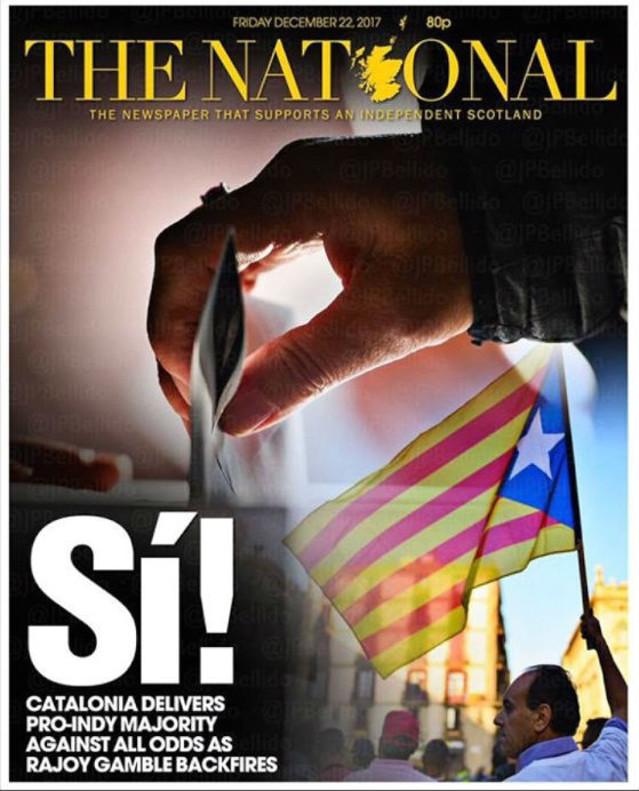 Portada del escocés 'The National'.