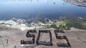 Una imagen del Mar Menor, la mayor laguna salada de Europa, en la Región de Murcia.