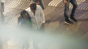 Prostitución en la Rambla, el mayo pasado.