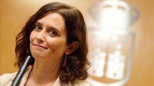 La nueva presidenta de la Comunidad de Madrid, Isabel Díaz Ayuso