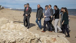 El vicepresidente segundo del Gobierno, Pablo Iglesias, visita varias de las zonas mas afectadas por la reciente borrasca 'Gloria' en las provincias de Alicante y Valencia