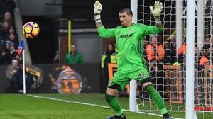 Valdés, en un partido del Middlesbrough ante el Crystal Palace.