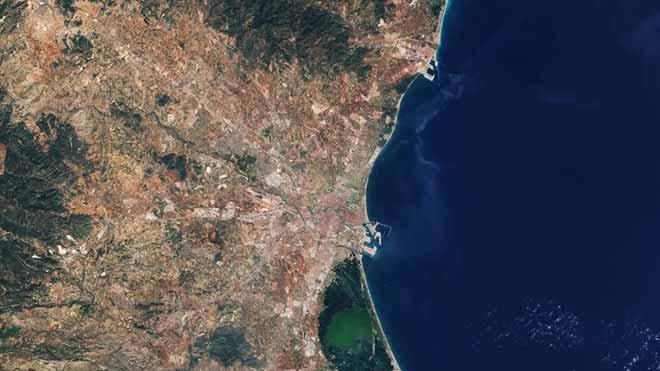 La costa valenciana, vista desde el espacio