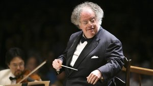 El veterano director James Levine, al frente de la Sinfónica de Boston.