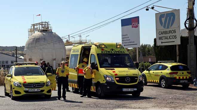 Un treballador ha mort i un altre està crític per una fuga d'amoníac a la Pobla de Mafumet