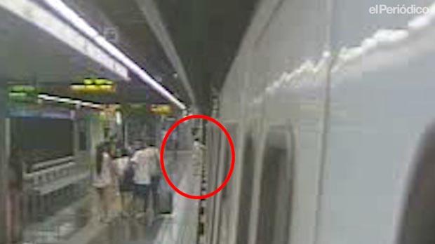 Vídeo del accidente en el metro de Barcelona investigado por el juez.