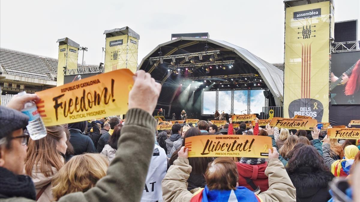 Vista general del concierto organizado por la ANC.