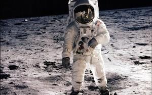 Edwin Aldrin, en una imagen tomada por su compañero Neil Armstrong, en el primer viaje del ser humano a la Luna.