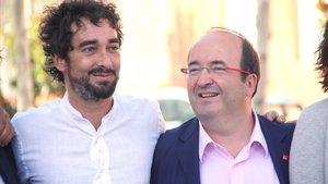 Carles Castillo y Miquel Iceta.