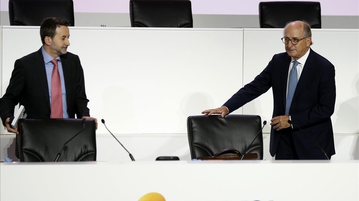 El presidente de Repsol,Antonio Brufau, y el consejero delegado, Josu Jon Imaz.