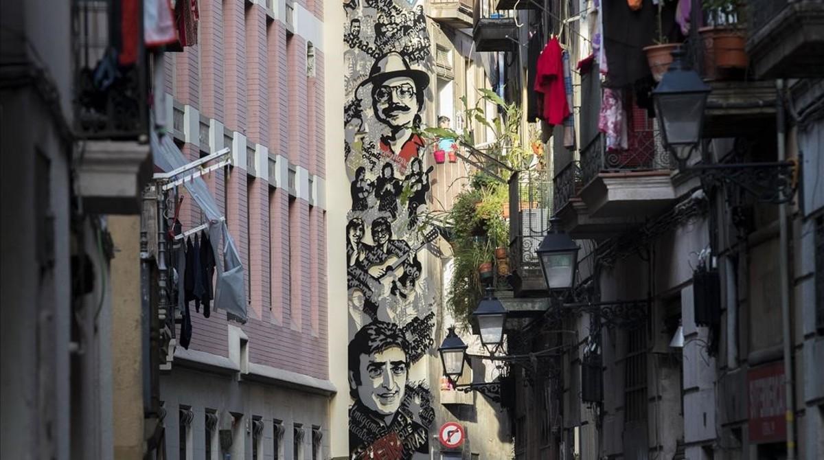 Mural rumbero en la calle de la Cera.