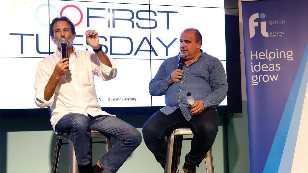 Luis Martin Cabiedes y el moderador Carlos Blanco