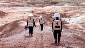 Misión análoga LATAM III realizada en las instalaciones de la Mars Desert Research Station, en Utah (USA), en mayo del 2019.