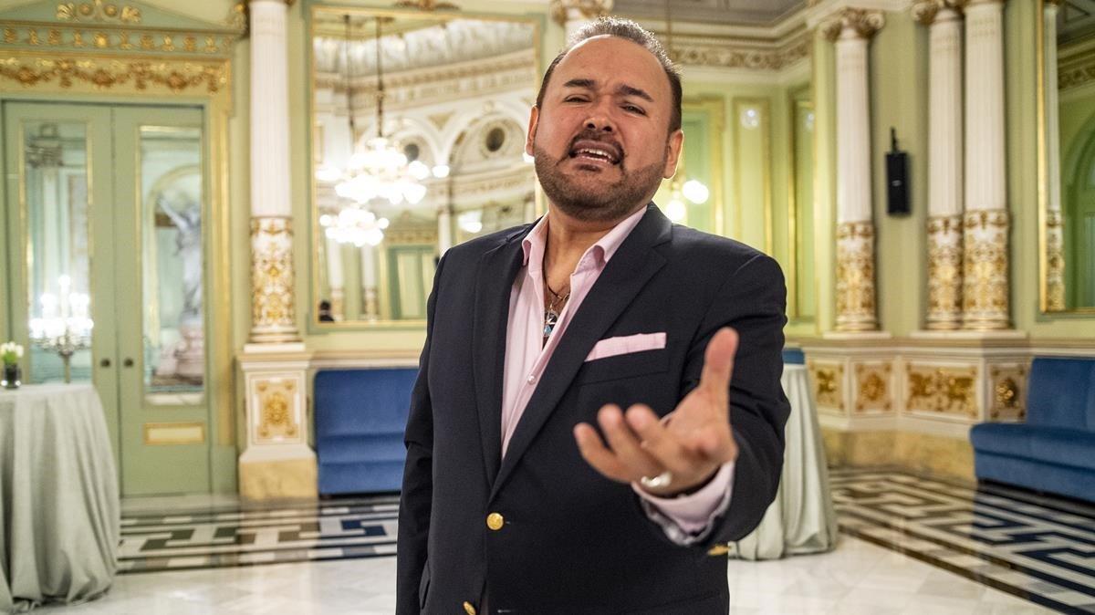 Javier Camarena, en el Saló dels Miralls del Liceu.