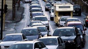 Circulación intensa en accesos a Andorra.
