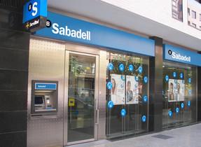 Una oficina del Banco Sabadell en Catalunya.