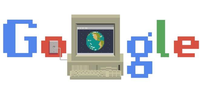'Doodle' de Google dedicat a l'aniversari d'internet