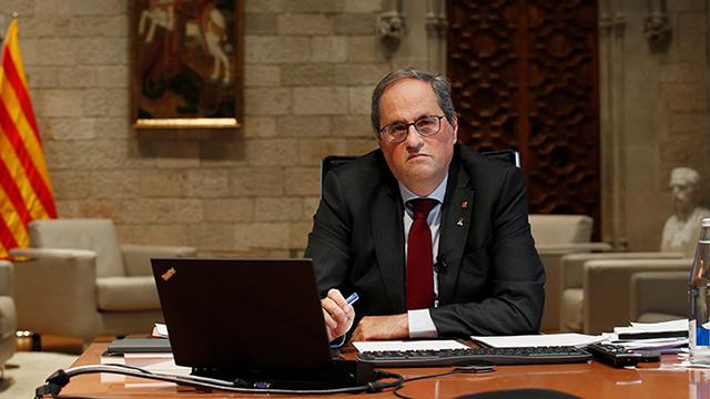 Torra deixa la presidència amb un últim servei a Puigdemont