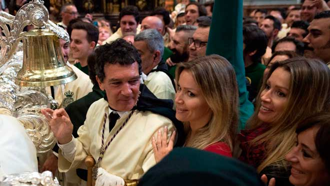 Banderas reivindica en la Setmana Santa de Màlaga la tornada als seus orígens