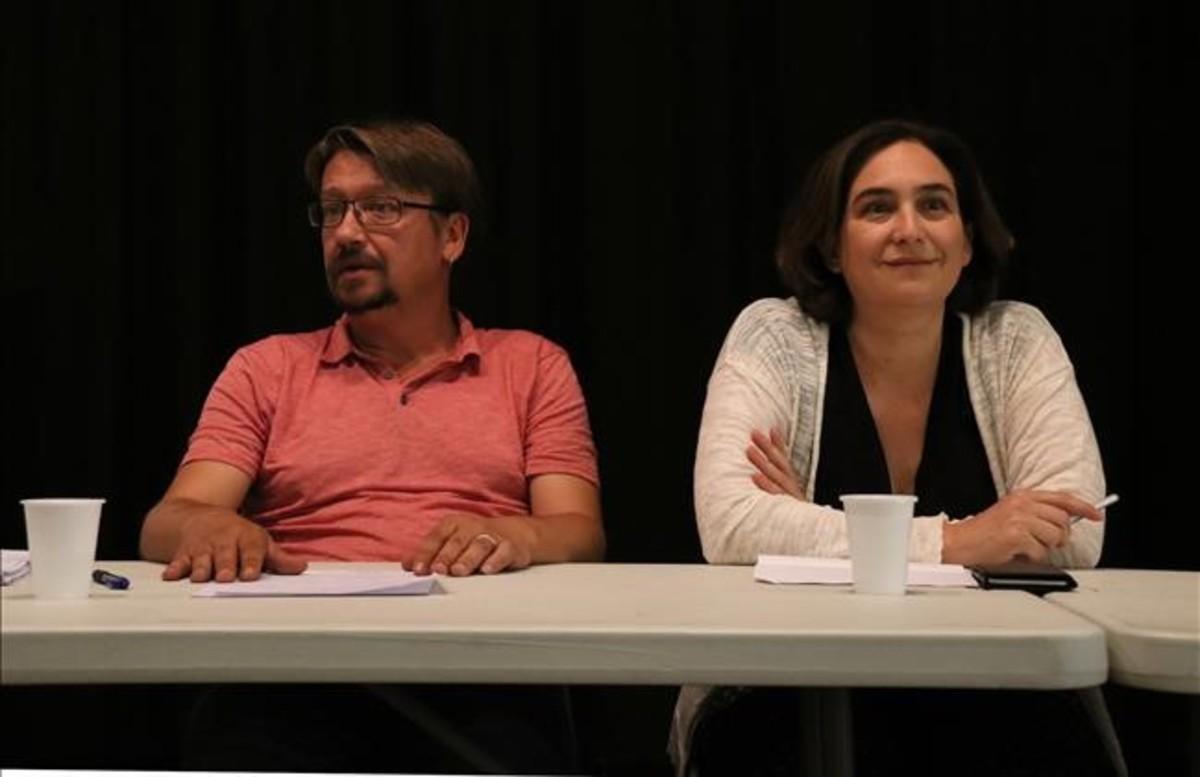 Ada Colau y Xavier Domènech.