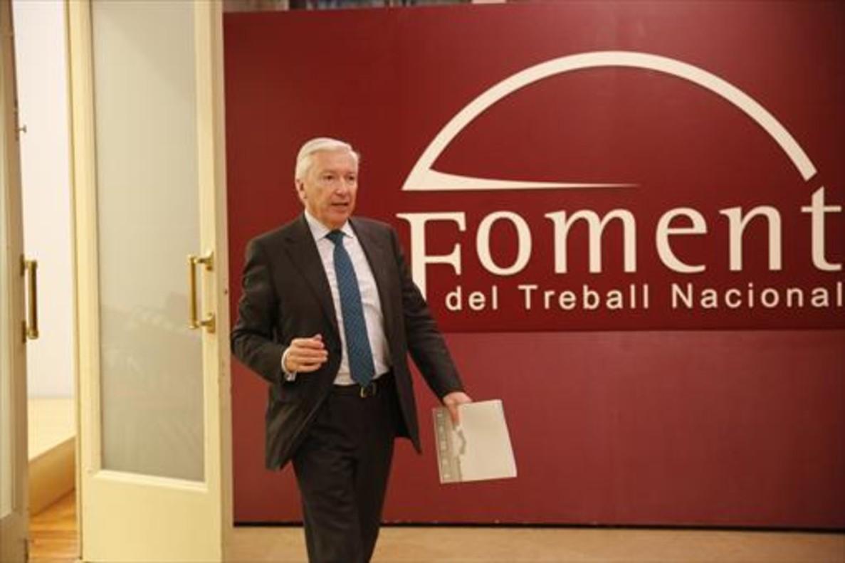 Antoni Abad, presidente de Cecot, en la sede de Foment del Treball.