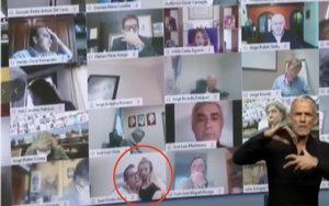 Sesión virtual de la Cámara de Diputados de Argentina del escándalo sexual.