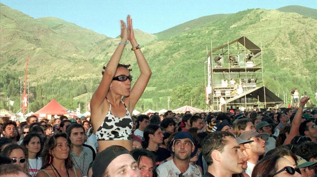 Asistentes al Doctor Music Festival de 1998, en Escalarre.