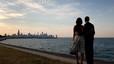 Michelle y Barack Obama en Chicago, en julio pasado.