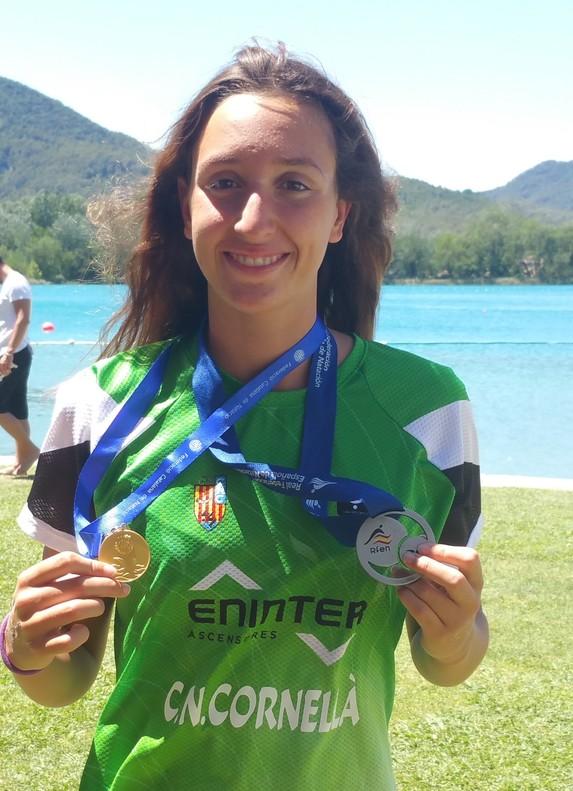 Begoña Lahoz, nadadora del CN Cornellà.