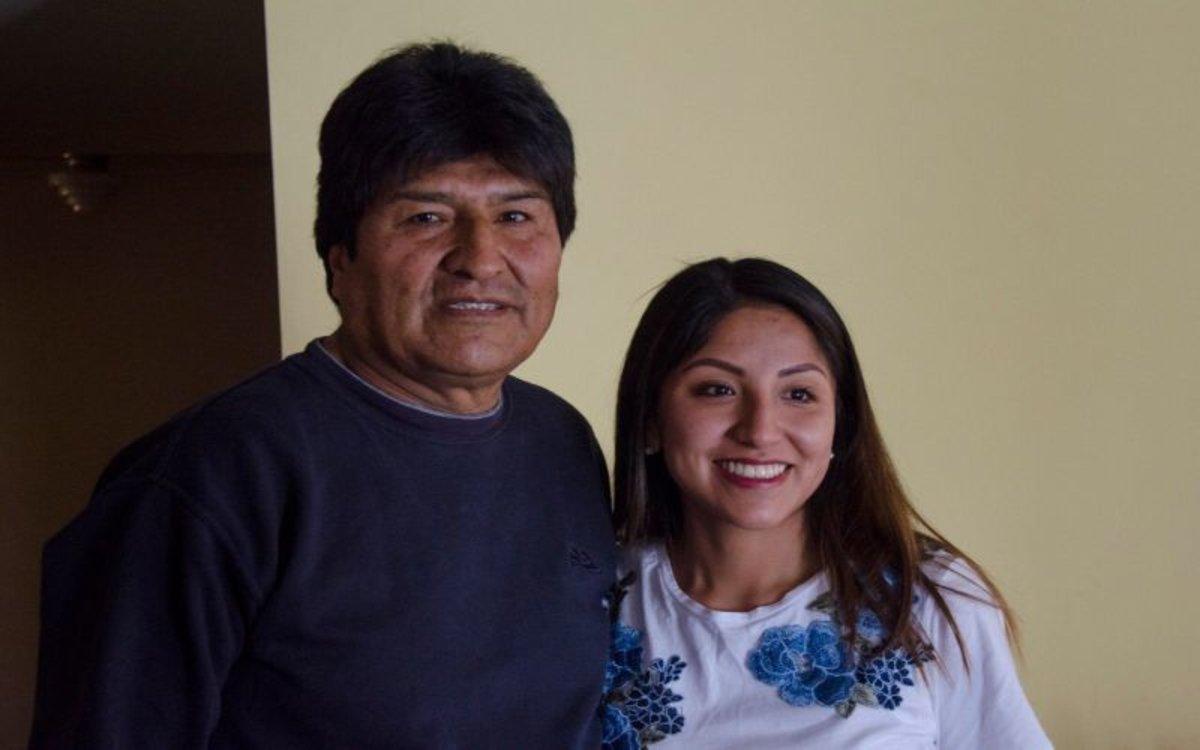 Evo Morales y su hijaEvaliz Morales Alvarado.