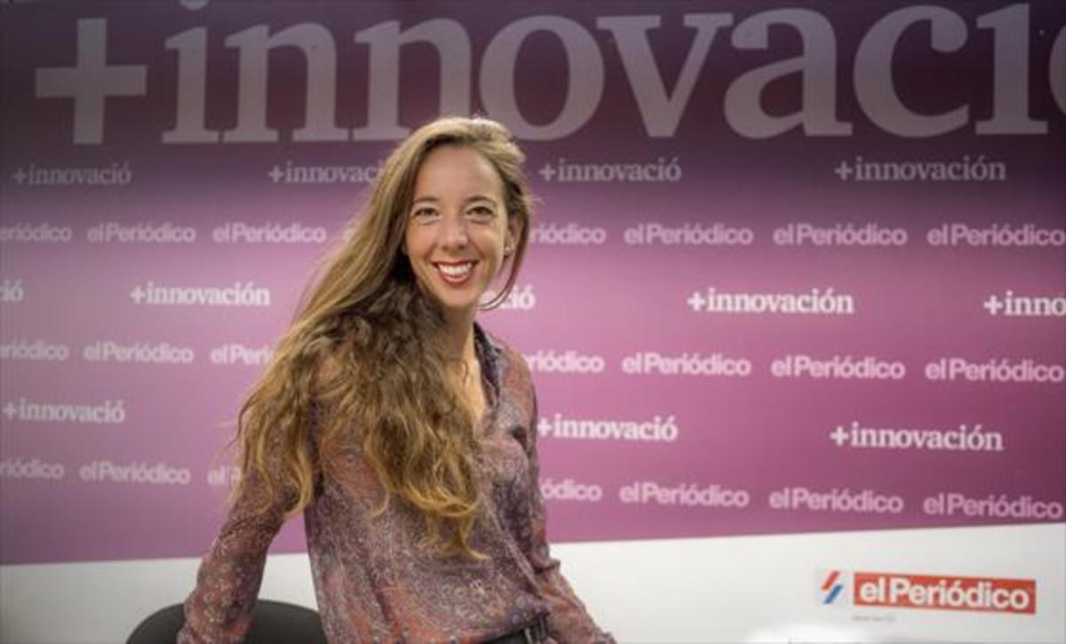 Carlota Pi, durante un momento de la entrevista en las instalaciones de EL PERIÓDICO DE CATALUNYA.