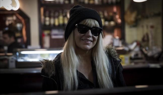 La cantante Cathey Claret en el bar Bauma.