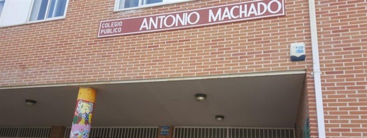 El colegio Antonio Machado en Collado Villalba.