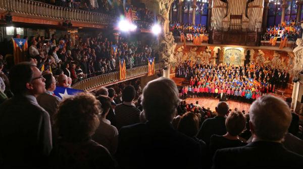 Imágenes del concierto de Sant Esteve en el Palau de la Música Catalana.