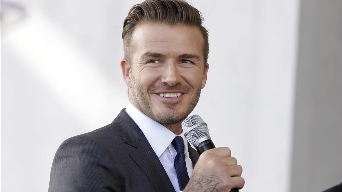 David Beckham, durante un acto publicitario.
