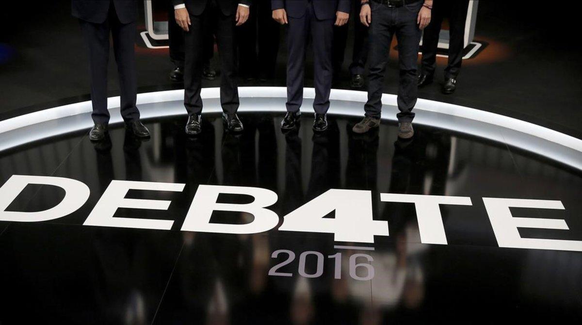 Debate electoral en televisión.