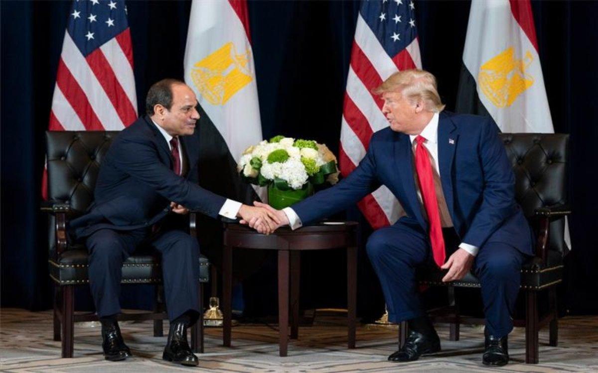 El presidente deEgipto, Abdelfatah al Sisi y Donald Trump.