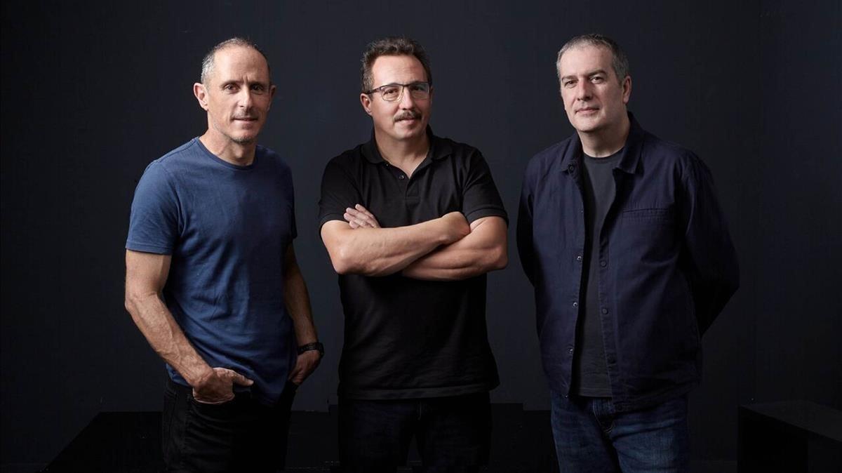 Enric Palau, Sergi Caballero y Ricard Robles, directores del festival Sónar