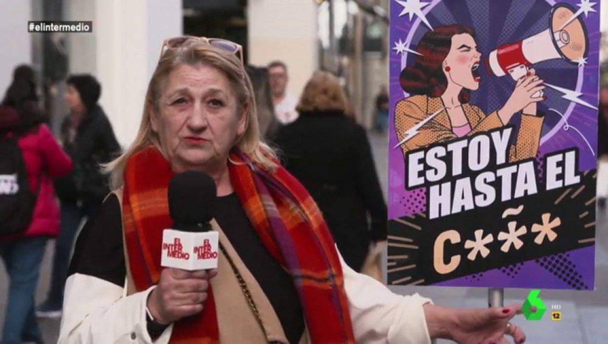 """""""Estoy hasta el coño"""", el reivindicativo mensaje de varias mujeres en 'El Intermedio'"""
