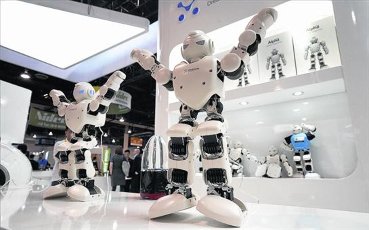 Exhibición de robots en la feria de tecnología Consumer Electronics Show (CES) de Las Vegas, el pasado 5 de enero.