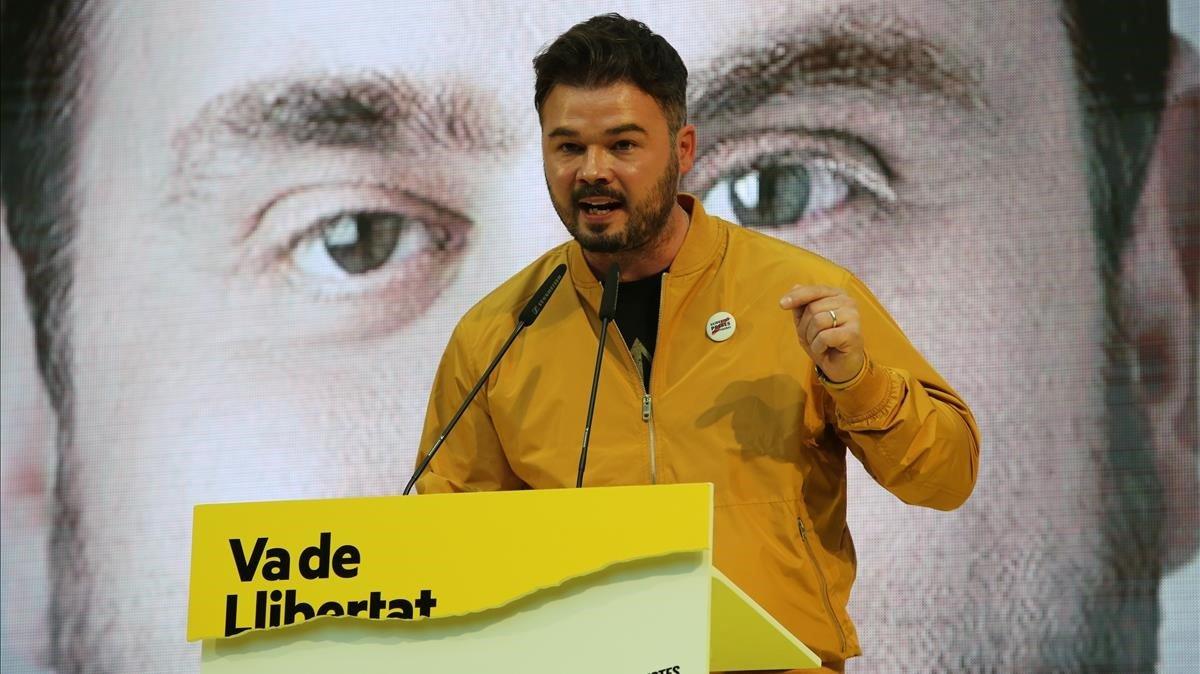 ERC proposa una llei per retirar les causes judicials a l'independentisme